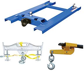 Forklift Bases, Hoisting Hooks
