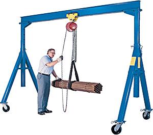 3 Ton Adjustable Steel Gantry Crane   HoF Equipment Co