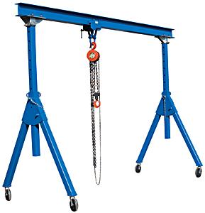 2 Ton Adjustable Steel Gantry Cranes   HoF Equipment Co