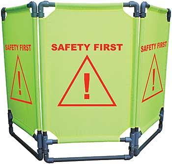 Vestil FBR-3 Folding Fabric Barrier