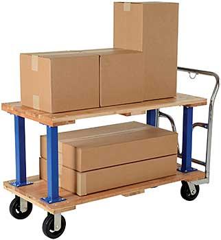 Vestil WHPT/D-2448 Double Decker Platform Cart