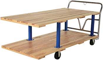 Vestil WHPT/D-3672 Double Decker Platform Cart