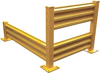 Vestil YGR-B-6 Steel Structural Guard Rails - Bolt-on Style