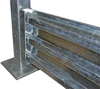 Vestil GGR-LO-6 Galvanized Steel Guard Rail