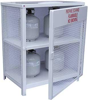 Vestil CYL-EX-12-E Propane Exchange Cylinder Cabinet