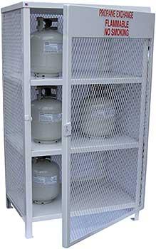 Vestil CYL-EX-18-E Propane Exchange Cylinder Cabinet