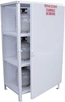 Vestil CYL-EX-18-S Propane Exchange Cylinder Cabinet