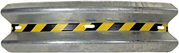 Vestil GR-H2R-CRV-BO-6-HDG Curved Galvanized Guard Rail