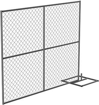 Vestil HRAIL-A-9072 Add On Unit Galvanized Construction Barrier