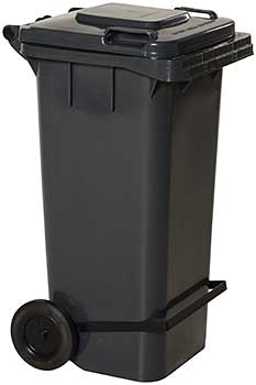 Vestil TH-64-GY-FL Trash Can with Foot Lid Lifter