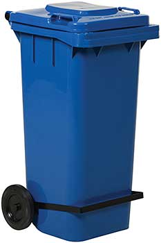 Vestil TH-64-BLU-FL Trash Can with Foot Lid Lifter