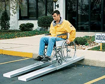 Vestil D-TR-88 Wheelchair Telescoping Ramp