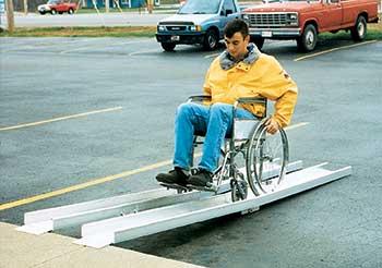 Vestil D-FAR-120 Wheelchair Fold-A-Way Ramp