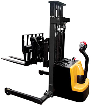 Vestil S-118-AA-FR Electric Stacker With Power Reach Forks