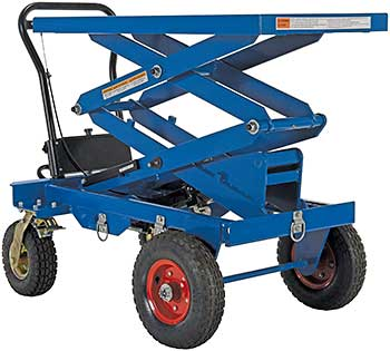 Vestil CART-PN-600-D Double Scissor Rough Terrain Lift Cart
