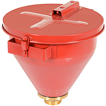 Vestil DF-S Steel Drum Funnel With Self-Closing Lid & Flame Arrestor
