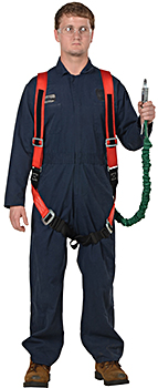 Vestil WP-LH Safety Harness With Lanyard