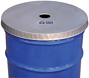 Vestil CAN-CAP-G Recycling Waste Top for Drums