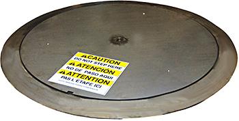 Vestil LP-4000T-SS Stainless Steel Thin Spin Carousel