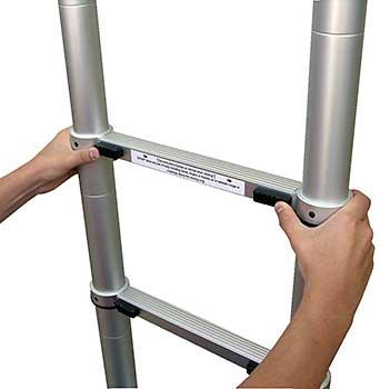 Vestil TLAD-12-1A Aluminum Telescoping Ladder