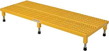 Vestil AHW-L-2460 Serrated Deck Adjustable Work-Mate Stand