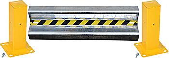 Vestil GR-H2R-BO-4-HDG Galvanized Guard Rail