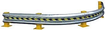 Vestil GR-10-CRV Curved Guard Rail