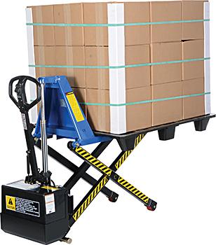 EHST0809 Semi-Electric High Lift Pallet Truck With Tilting ...  |High Lift Pallet Jack