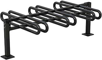 Vestil BR-M3D-BK Bicycle Rack