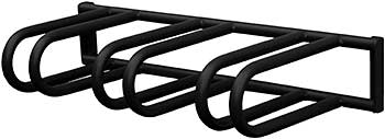 Vestil BR-M3S-W-BK Bicycle Rack