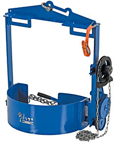 Vestil DCT-75 Hoist Mounted Drum Rotator / Drum Carrier