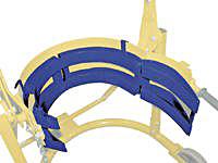 Vestil FDC-30 Steel Saddle 30 gal. drum adaptor