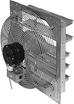 Vestil SME-12 Shutter Mounted Exhaust Fan