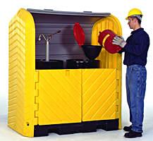 Vestil DSHRT-2 Drum Storage Hard Top Container