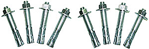 Vestil AS-344-4PK Concrete Anchor Bolts