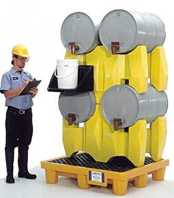 Vestil PDR-4 Polyethylene Drum Racks
