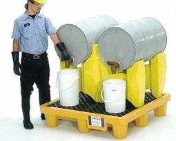 Vestil PDR-2 Polyethylene Drum Racks