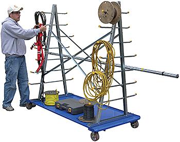 Vestil AFSR-3672 A-Frame Storage Cart