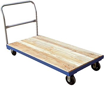 Vestil VHPT/S Hardwood Platform Trucks With Steel Frame