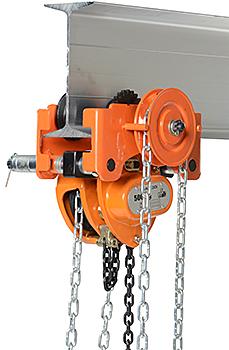 Vestil Low Headroom Chain Hoist / Trolley