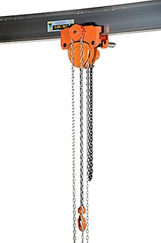 Vestil Low Headroom Combination Chain Hoist Trolley