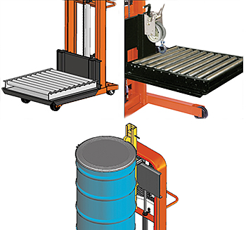 Roller Platform, Die Puller & Rollers, Drum Grabber