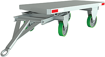 Vestil FWST-48-4P Fifth Wheel Steer Trailer