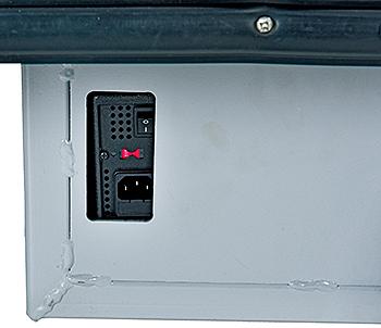 Vestil EMHC-2860-4 Charging Port / On & Off Switch