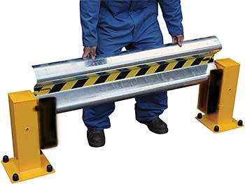 Vestil GR-D-6 Galvanized Guard Rail