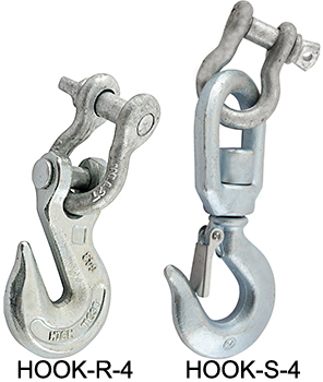 HOOK-S-4 Swivel Hook & HOOK-R-4 Rigid Hook