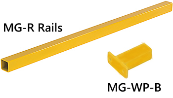 MG-R Railing Section & MG-WP-B Wall Mount