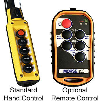 Standard Corded Hand Control & Optional Remote Control
