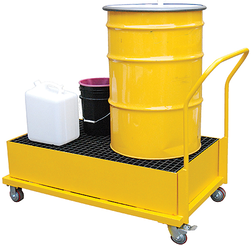 Vestil SRBC-YL-2 Steel Retention Basin Drum Cart
