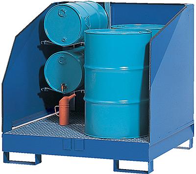 Vestil VSRB-WS-4 Drum Spill Containment Pallet